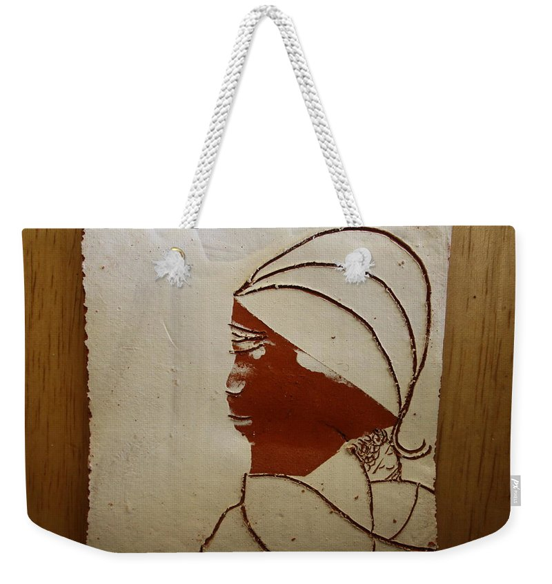 Jesus Weekender Tote Bag featuring the ceramic art Mama 4 - Tile by Gloria Ssali