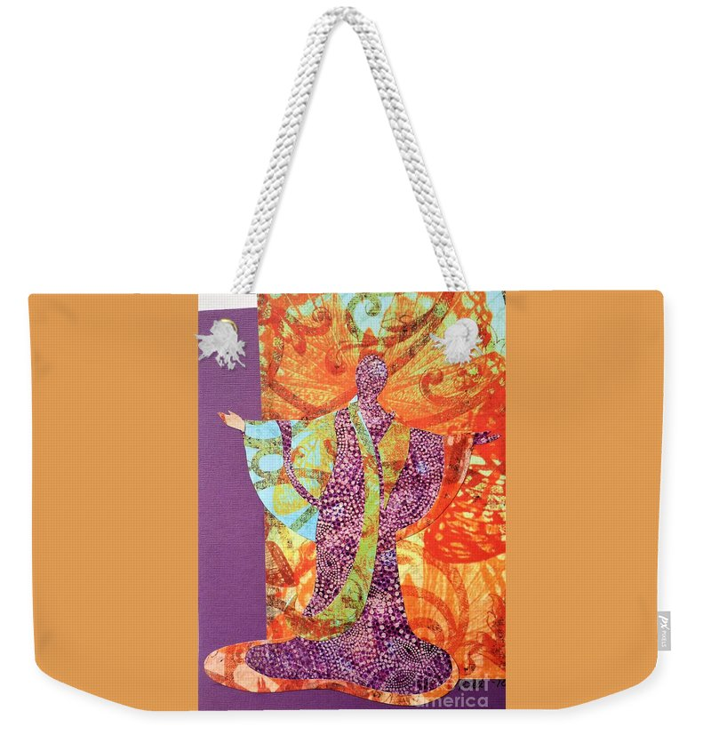 Photo Of Paper Art Madame Butterfly Weekender Tote Bag featuring the photograph Mama Butterfly by Cat Pancake