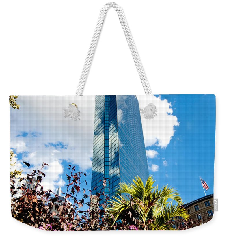 Boston Weekender Tote Bag featuring the photograph Man And Nature by Greg Fortier