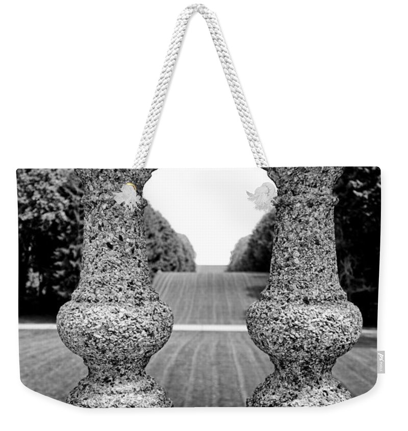Stone Weekender Tote Bag featuring the photograph Man Frames Nature by Greg Fortier