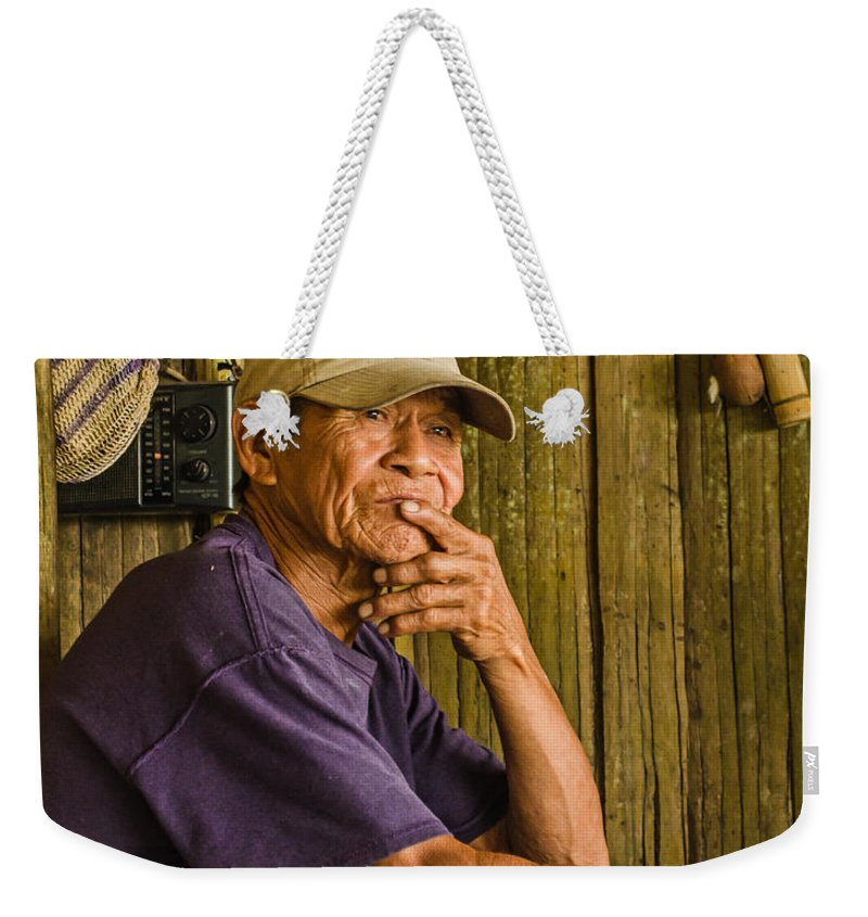 Peru Weekender Tote Bag featuring the photograph Man Of The House by Allen Sheffield