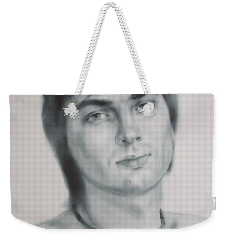 Art Weekender Tote Bag featuring the drawing Man by Sergey Ignatenko