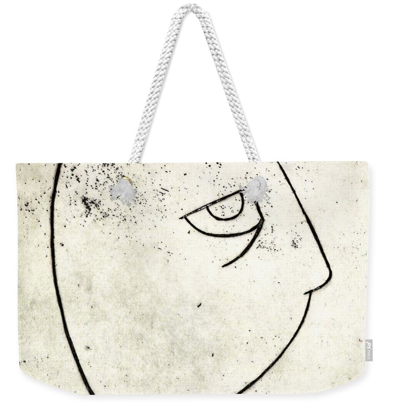 Clay Weekender Tote Bag featuring the painting man by Thomas Valentine