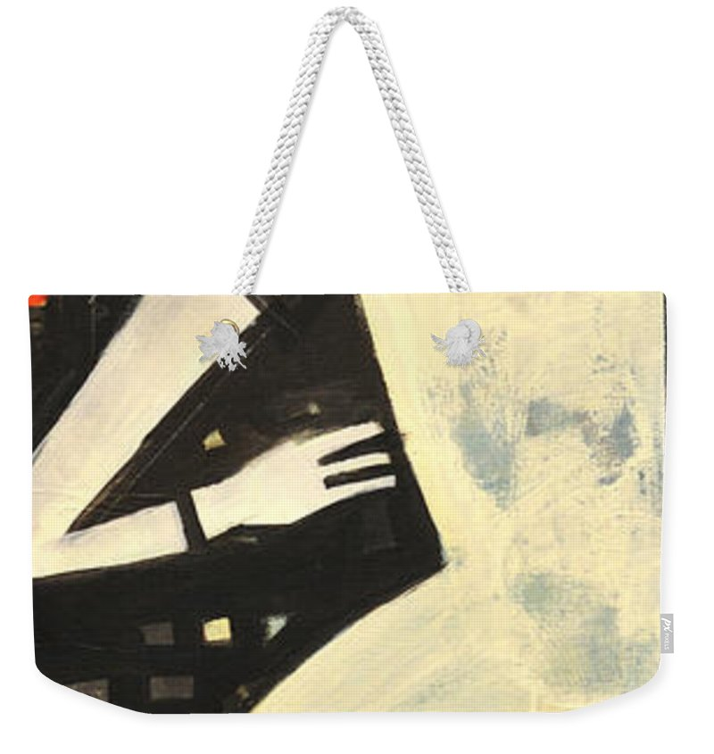 Man Weekender Tote Bag featuring the painting Man With Loin Cloth by Tim Nyberg