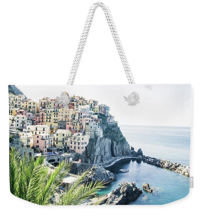 Sea Weekender Tote Bag featuring the photograph Manarola Cinque Terre Italy by Pavel Kasak