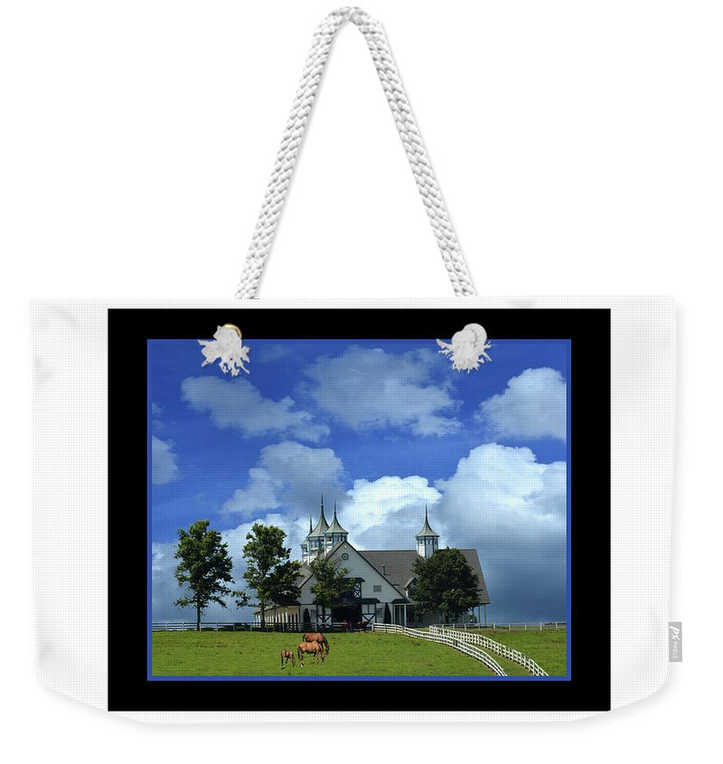 Manchester Weekender Tote Bag featuring the photograph Manchester Barn by Bob Welch