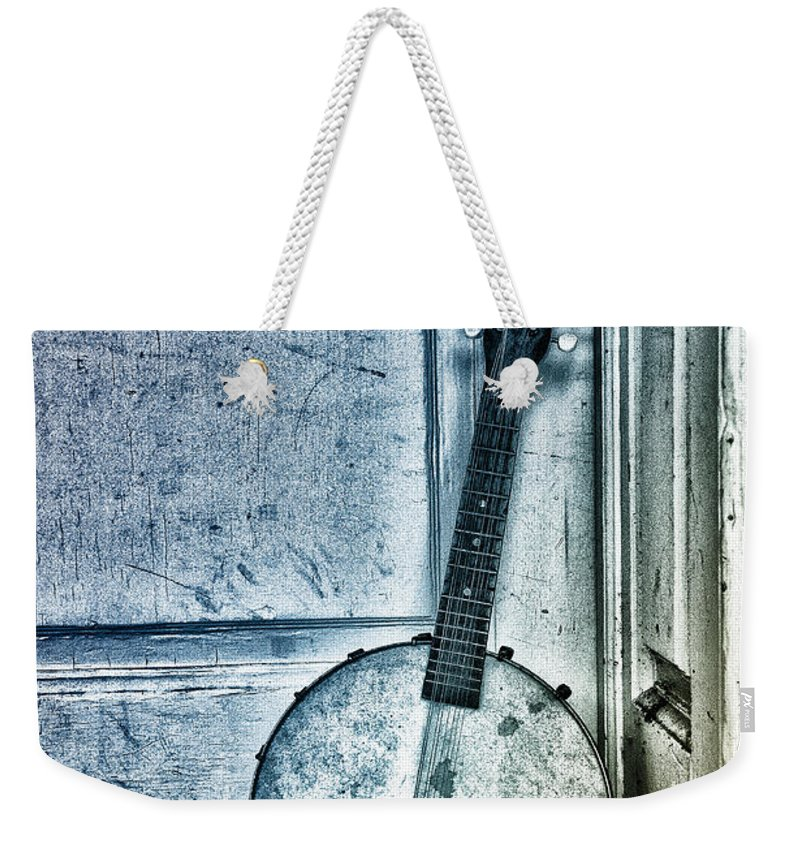 Mandolin Weekender Tote Bag featuring the photograph Mandolin Banjo In The Corner by Bill Cannon