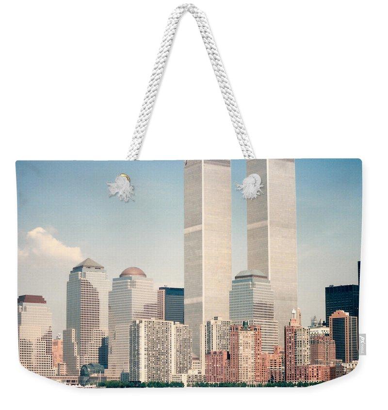 Manhattan Weekender Tote Bag featuring the photograph Manhattan Circa 1990 by Lauri Novak