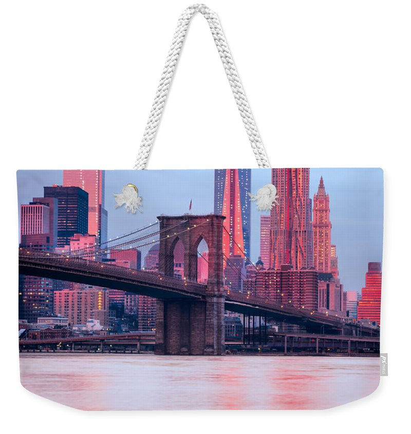 New Weekender Tote Bag featuring the photograph Manhattan - New York City - Usa by Luciano Mortula