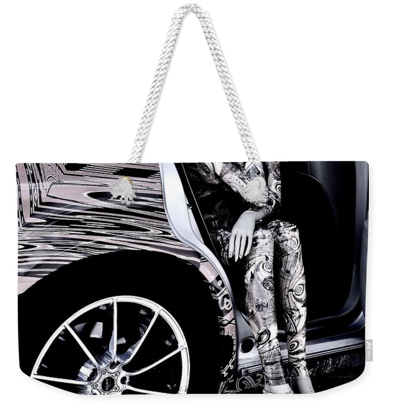 Mannequin Waiting Weekender Tote Bag featuring the photograph Don't Keep Me Waiting by Lisa Renee Ludlum