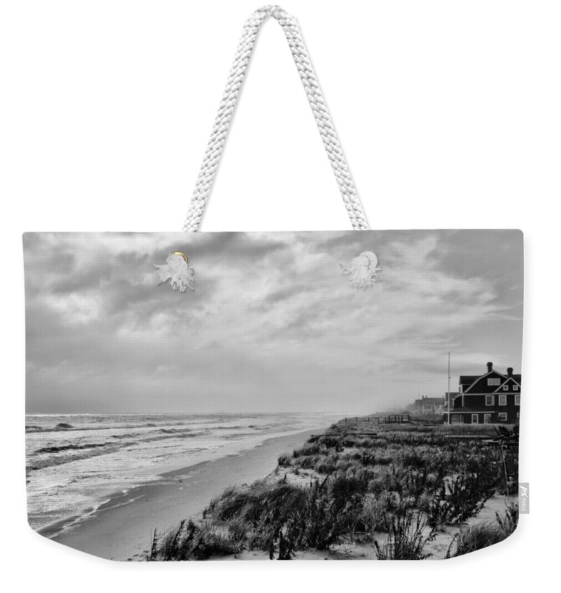 Jersey Shore Weekender Tote Bag featuring the photograph Mantoloking Beach - Jersey Shore by Angie Tirado