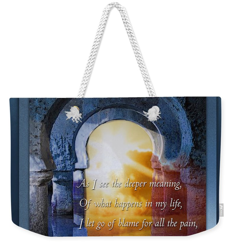 Mantra Weekender Tote Bag featuring the mixed media Kaypacha's Mantra 3.25.2015 by Richard Laeton