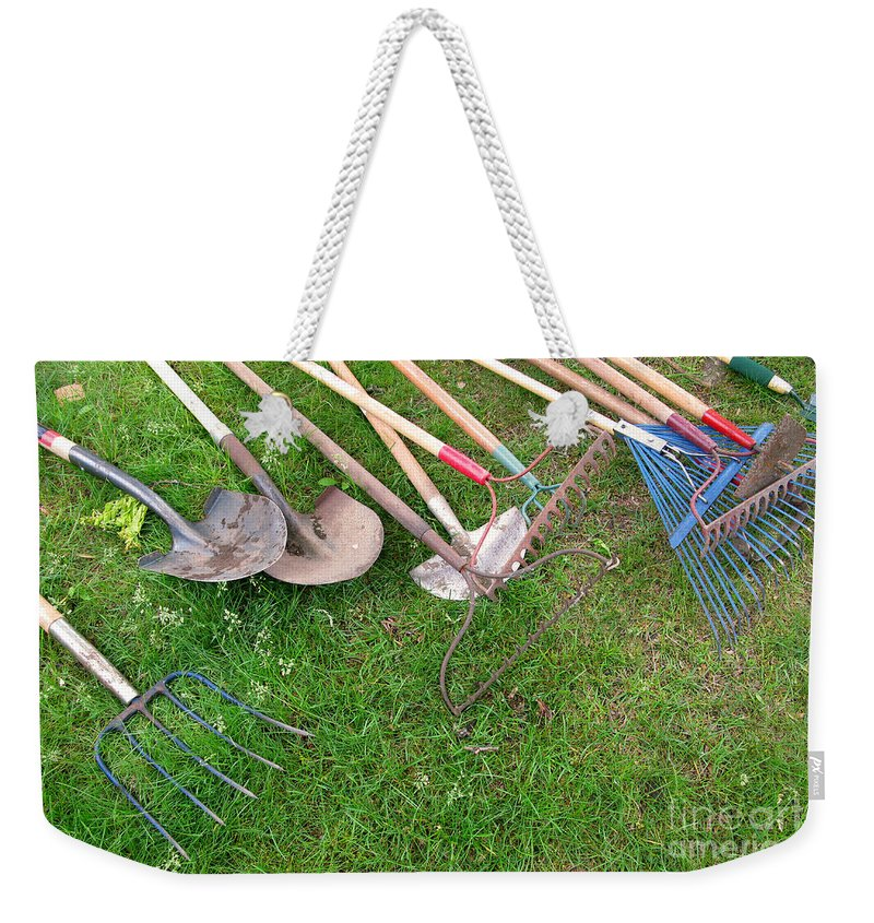 Tools Weekender Tote Bag featuring the photograph Many Hands Make Light Work by Ann Horn