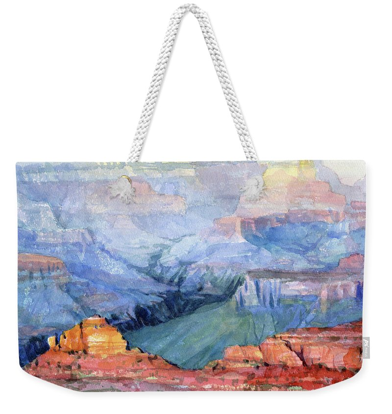 Grand Canyon Weekender Tote Bag featuring the painting Many Hues by Steve Henderson