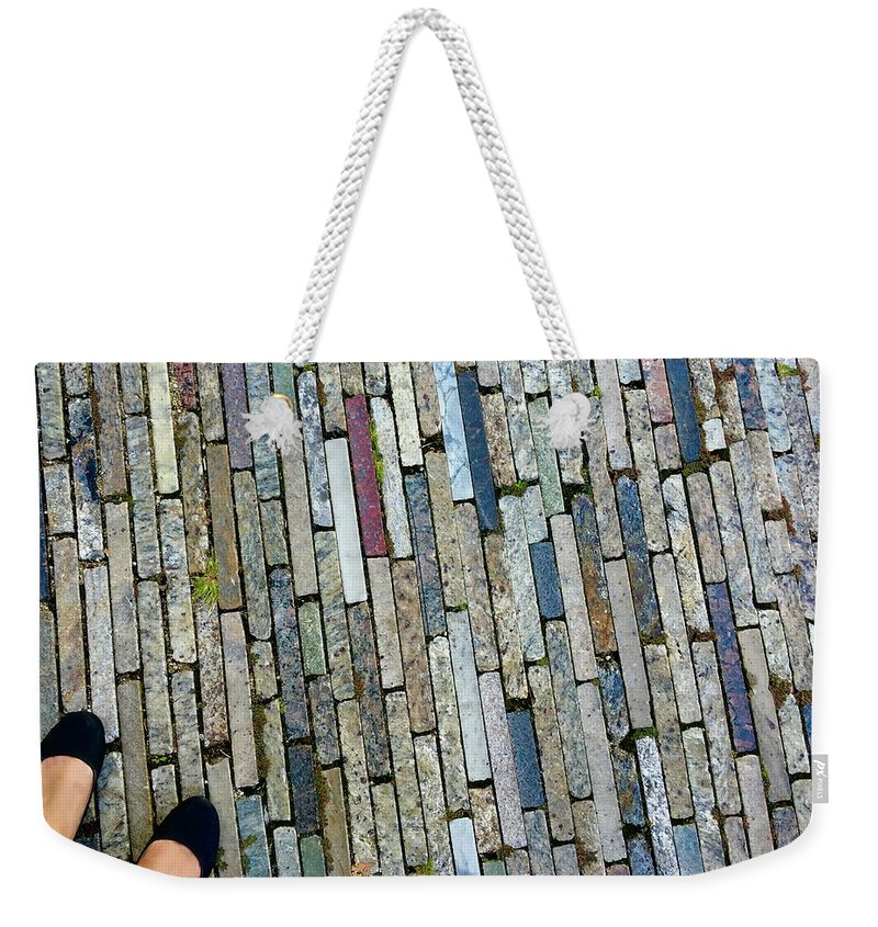 Feet Weekender Tote Bag featuring the photograph Many Layered Path by Margaret Fronimos