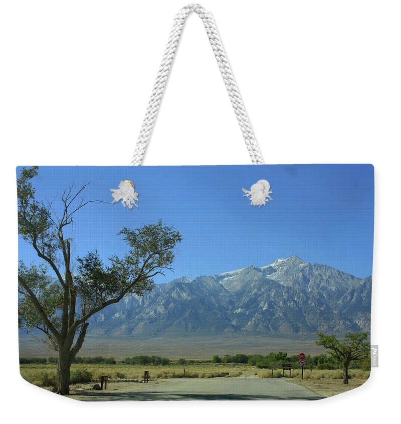 California Weekender Tote Bag featuring the photograph Manzanar 1 by Tommy Anderson