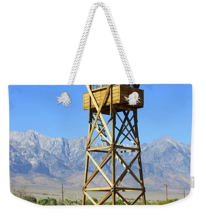 California Weekender Tote Bag featuring the photograph Manzanar A Blight On America 2 by Tommy Anderson