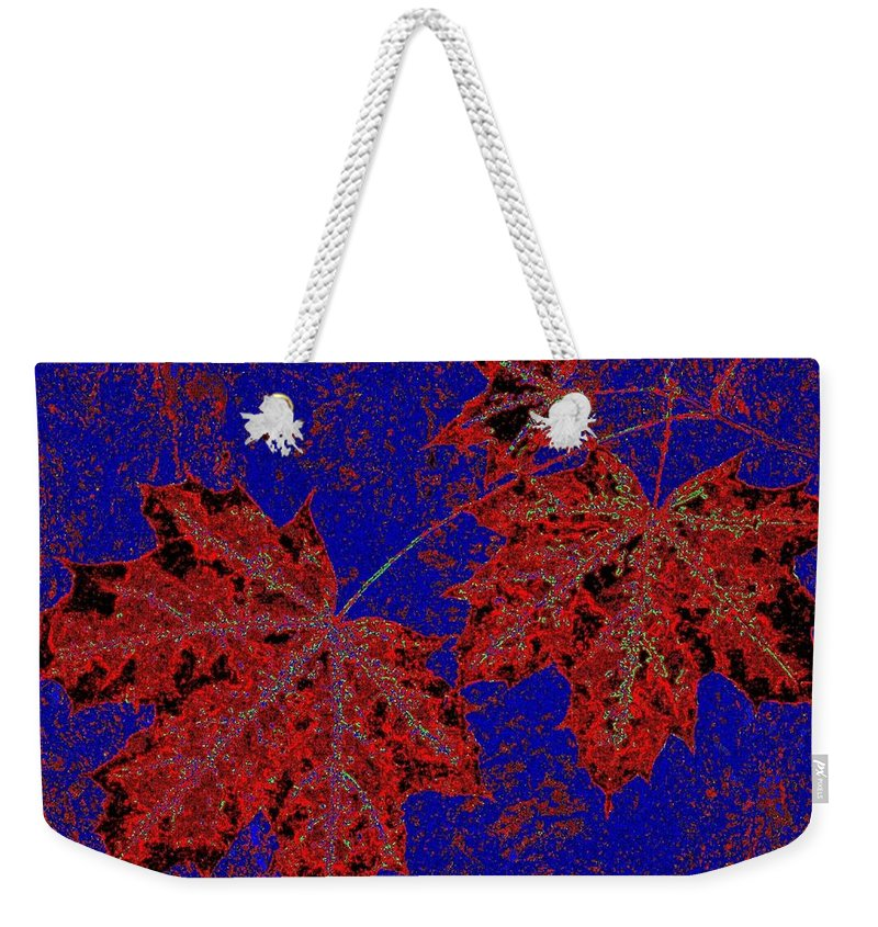 Cheerful Weekender Tote Bag featuring the digital art Maple Mania 15 by Will Borden