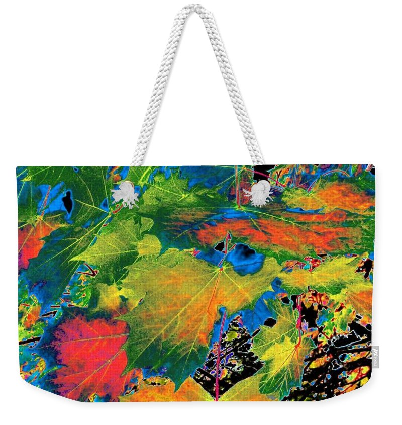 Photo Design Weekender Tote Bag featuring the digital art Maple Mania 3 by Will Borden