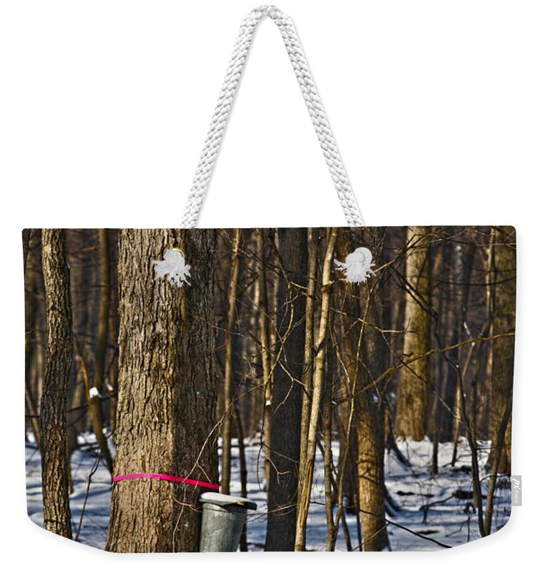 Sirup Weekender Tote Bag featuring the photograph Maple Sirup Hdr No1 by Alan Look