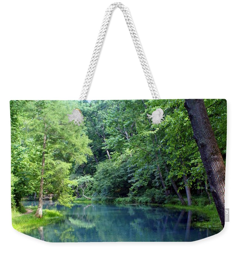 Maramec Springs Park Weekender Tote Bag featuring the photograph Maramec Springs 2 by Marty Koch