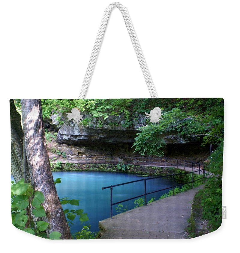 Maramec Springs Park Weekender Tote Bag featuring the photograph Maramec Springs 3 by Marty Koch