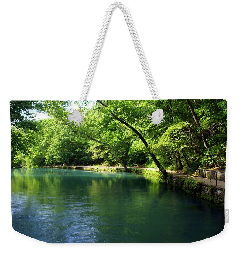 Maramec Springs Park Weekender Tote Bag featuring the photograph Maramec Springs 4 by Marty Koch