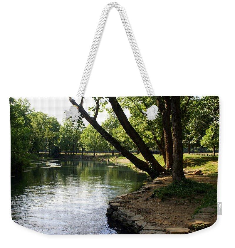 Maramec Springs Park Weekender Tote Bag featuring the photograph Maramec Springs 5 by Marty Koch