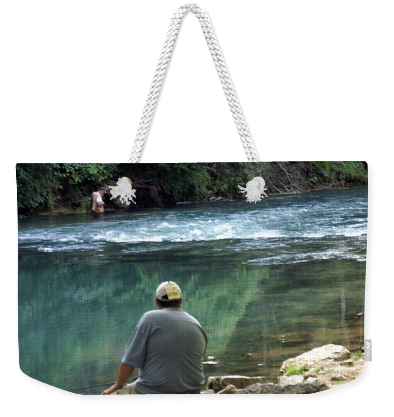 Maramec Springs Park Weekender Tote Bag featuring the photograph Maramec Springs 6 by Marty Koch
