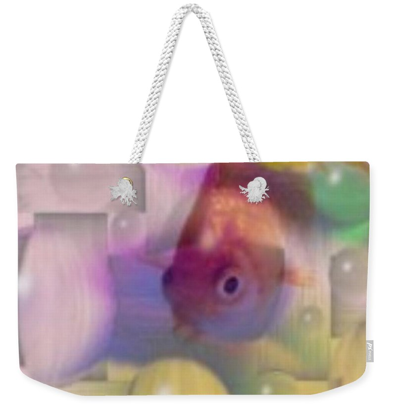Fish Weekender Tote Bag featuring the photograph Marble Fish by Tim Allen