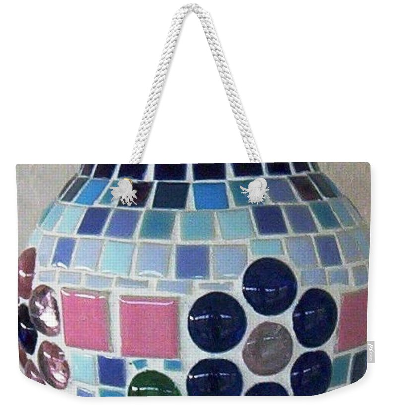 Glass Weekender Tote Bag featuring the glass art Marble Vase by Jamie Frier