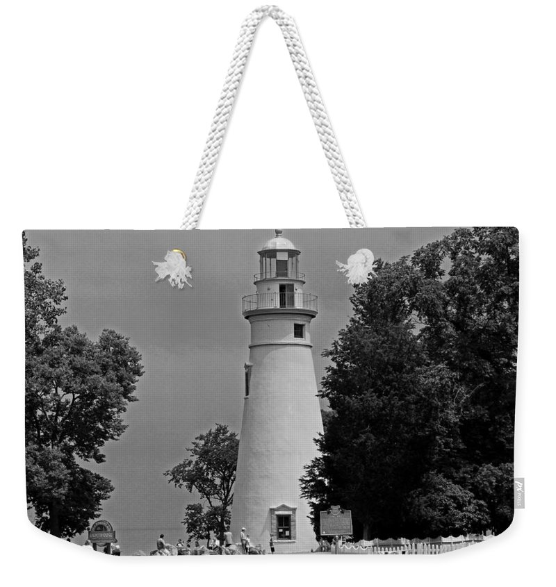 Marblehead Weekender Tote Bag featuring the photograph Marblehead by Michiale Schneider