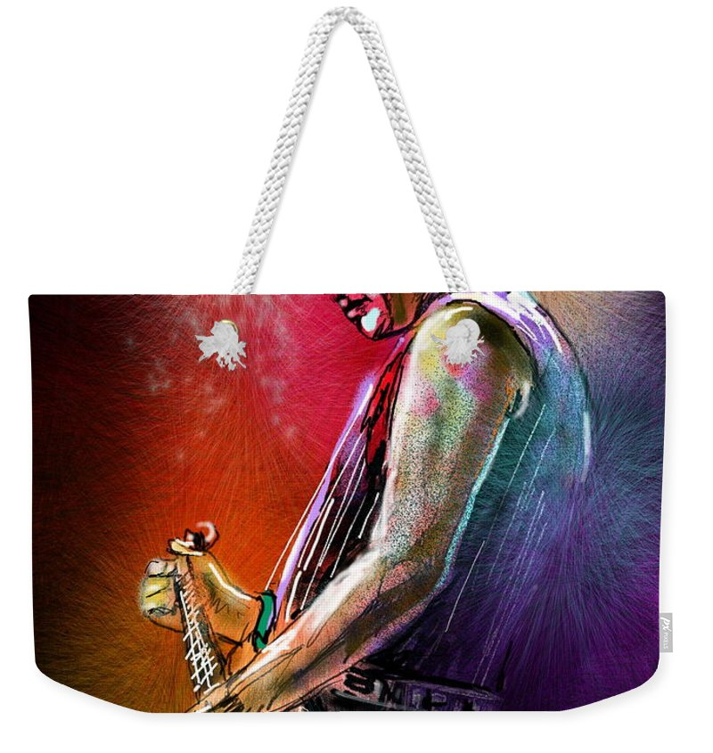 Marc Pearson Portrait Weekender Tote Bag featuring the digital art Marc Pearson by Miki De Goodaboom