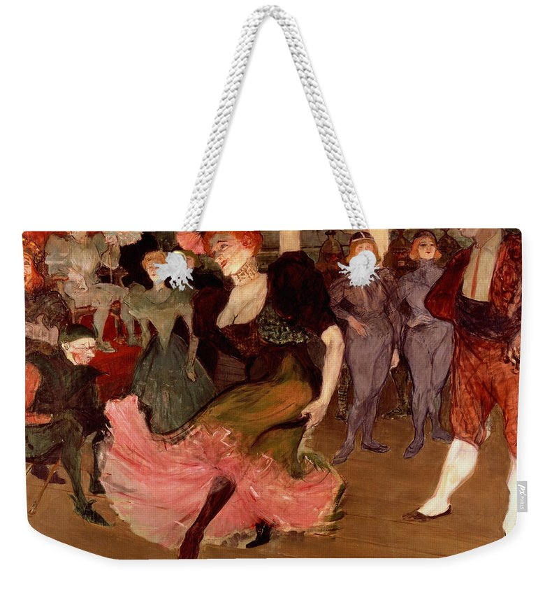 Lautrec Weekender Tote Bag featuring the painting Marcelle Lender Dancing The Bolero In Chilperic by Henri de Toulouse Lautrec