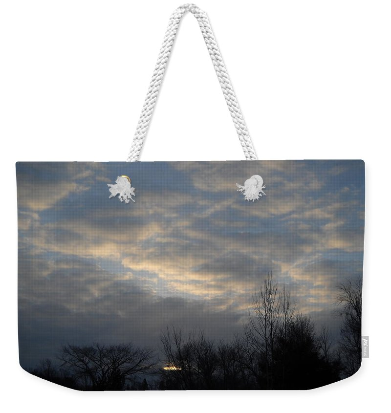 Sky Weekender Tote Bag featuring the photograph March Clouds In Dawn Sky by Kent Lorentzen