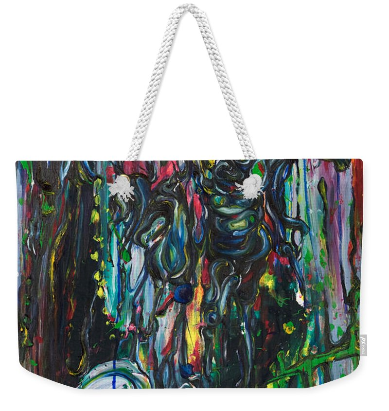 Surreal Weekender Tote Bag featuring the painting March Into The Sea by Sheridan Furrer
