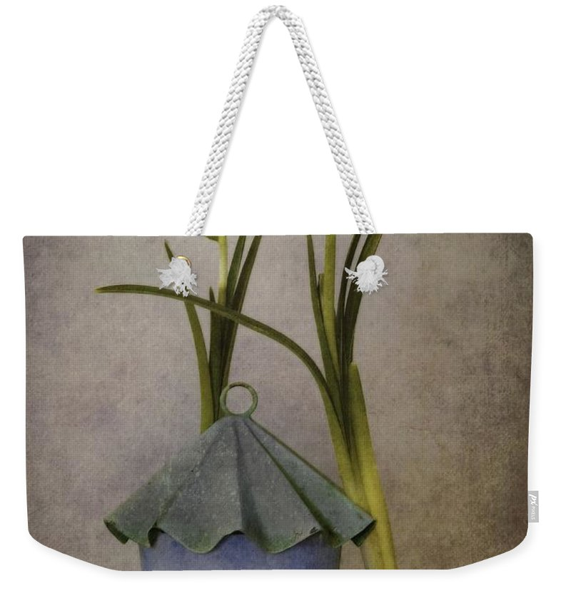 Still Life Weekender Tote Bag featuring the photograph March by Priska Wettstein