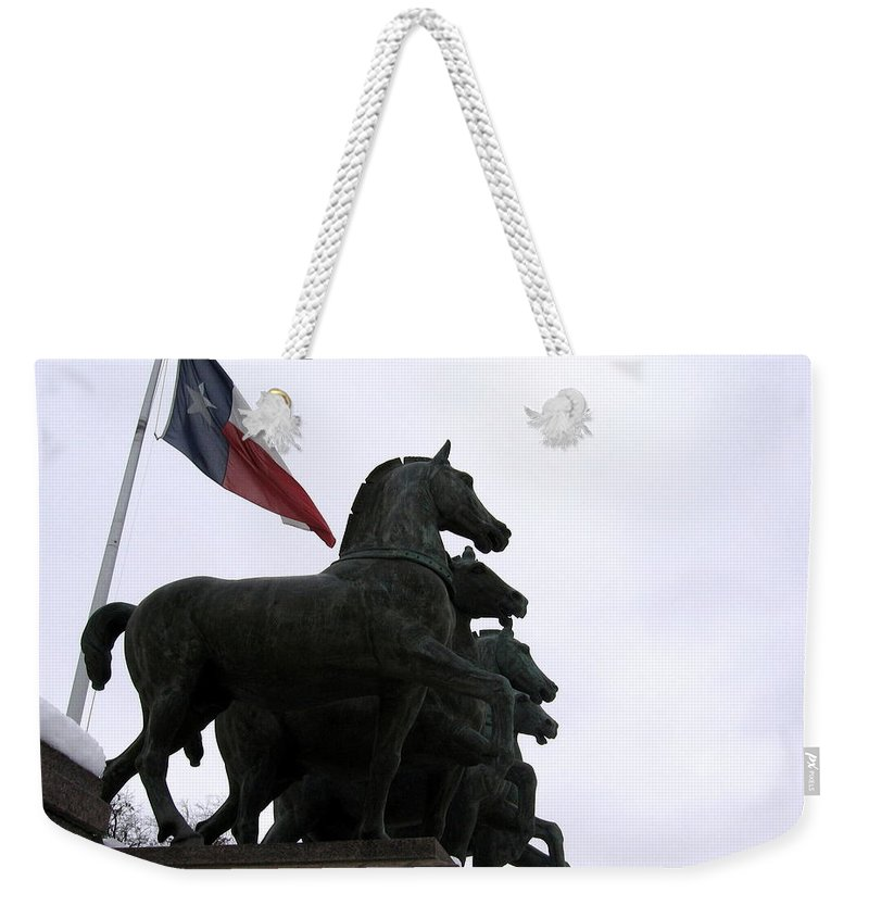 Horses Weekender Tote Bag featuring the photograph Marching Horses by Amy Hosp