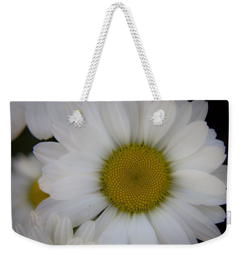 Marguerite Weekender Tote Bag featuring the photograph Marguerite Daisies by Teresa Mucha