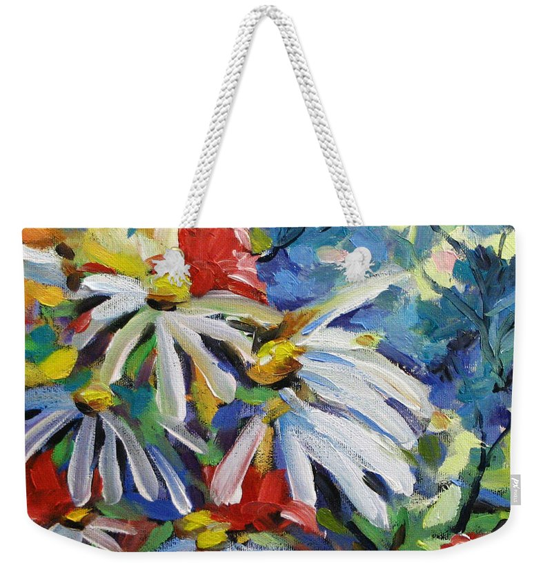 Art Weekender Tote Bag featuring the painting Marguerites by Richard T Pranke
