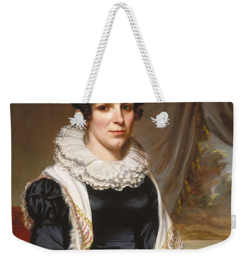 Painting Weekender Tote Bag featuring the painting Maria Clarissa Leavitt by Mountain Dreams