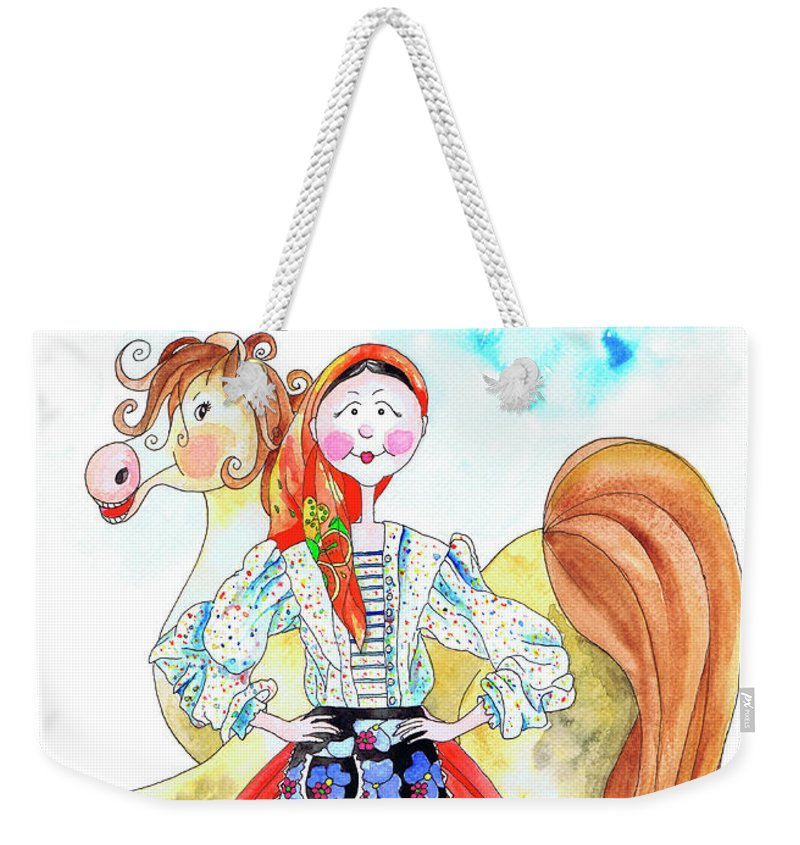 Portugal Weekender Tote Bag featuring the painting Maria Do Ribatejo by Isabel Salvador