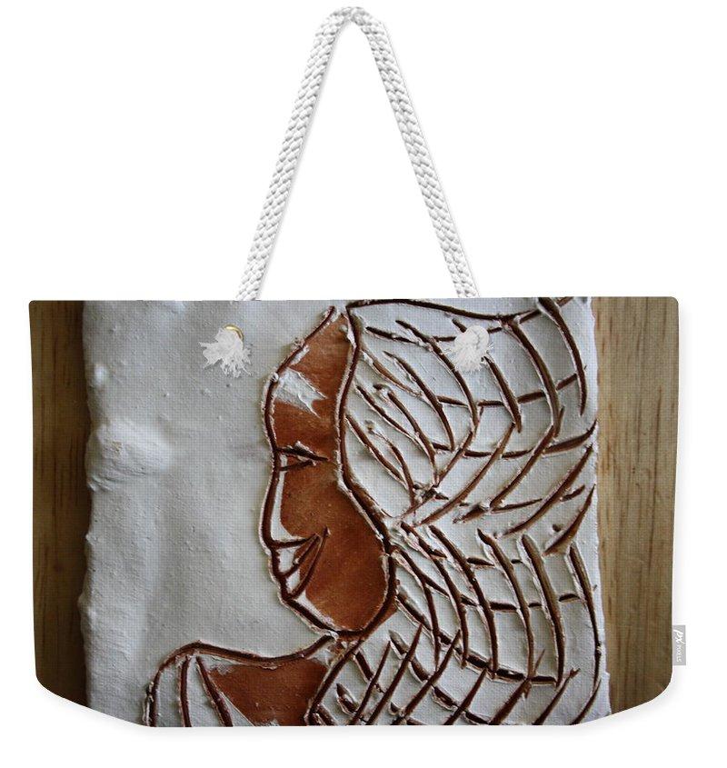 Jesus Weekender Tote Bag featuring the ceramic art Maricar - Tile by Gloria Ssali