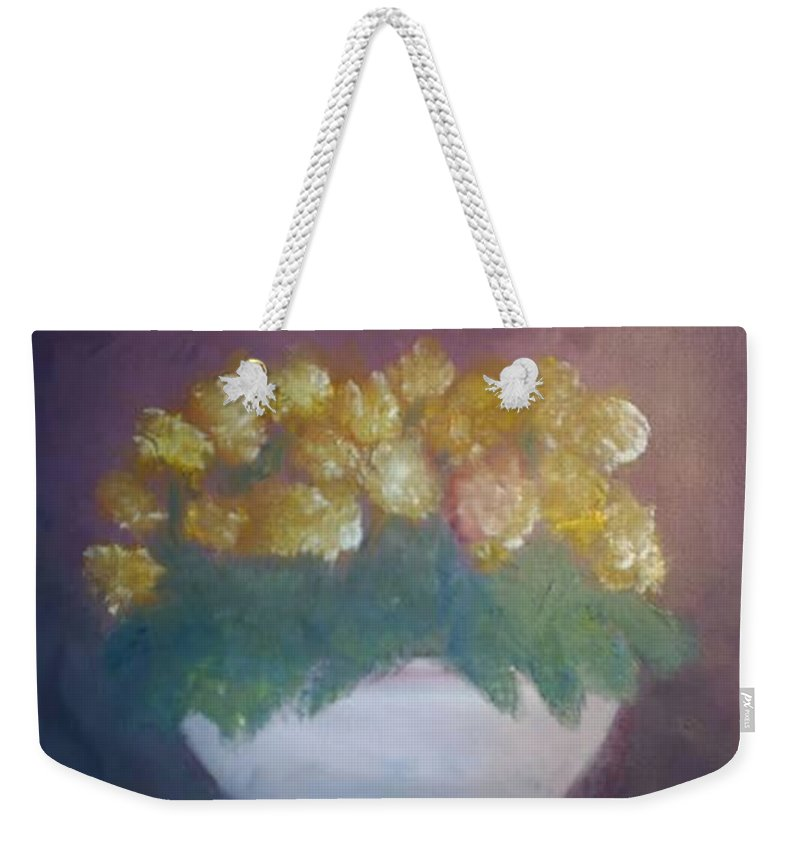 Marigolds Weekender Tote Bag featuring the painting Marigolds by Sheila Mashaw