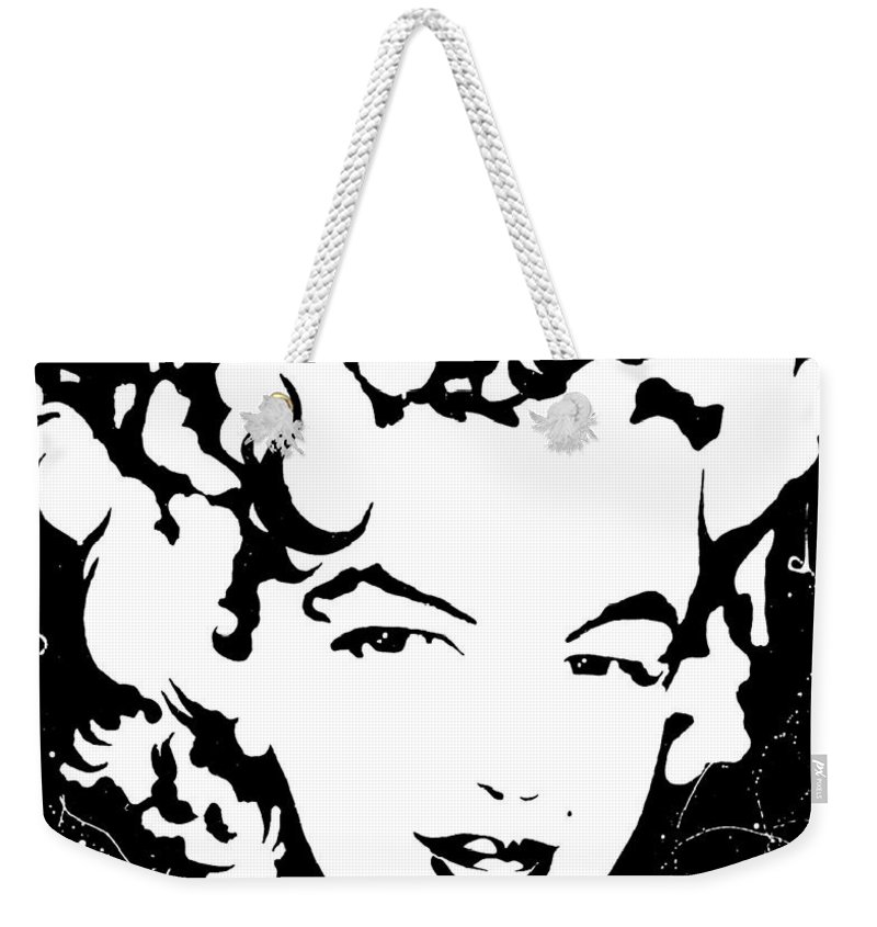 Portrait Weekender Tote Bag featuring the painting Marilyn Monroe by Curtiss Shaffer