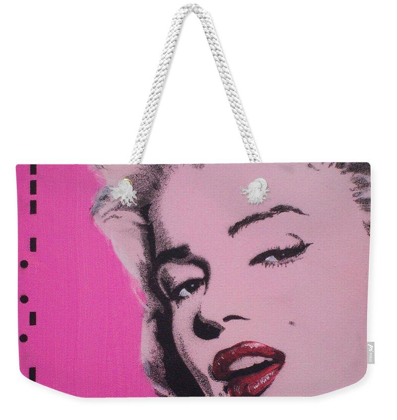 Marilyn Monroe Weekender Tote Bag featuring the painting Marilyn Monroe by Gary Hogben