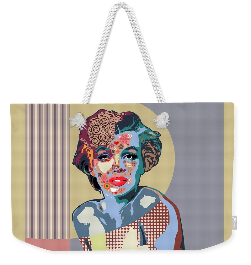 Marilyn Monroe Weekender Tote Bag featuring the digital art Marilyn Monroe by Lanre Studio