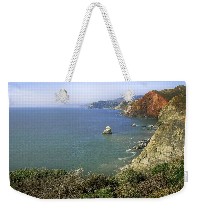 Ocean Weekender Tote Bag featuring the photograph Marin Headlands 1 by Karen W Meyer