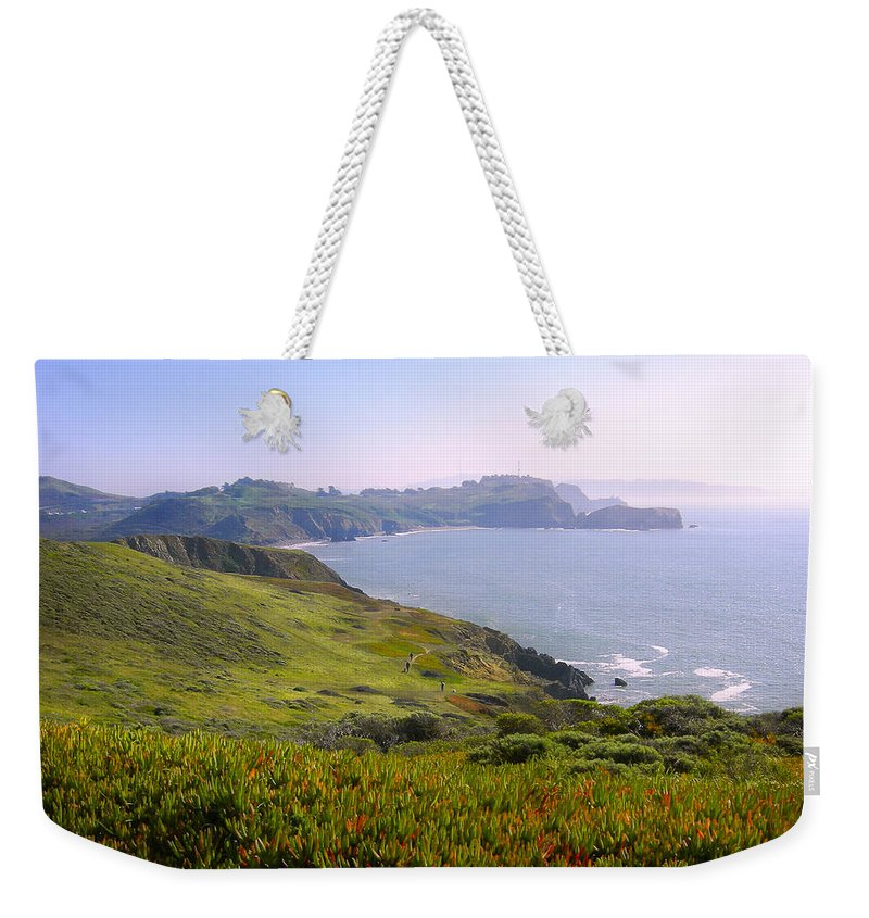 Landscape Weekender Tote Bag featuring the photograph Marin Headlands 2 by Karen W Meyer