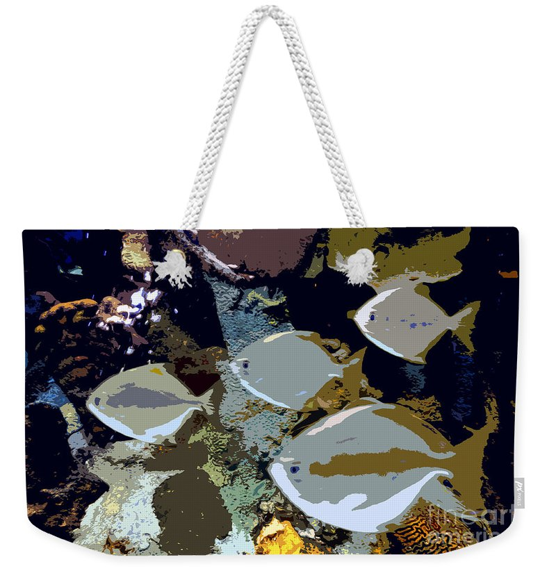 Marine Life Weekender Tote Bag featuring the painting Marine Life by David Lee Thompson